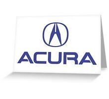 Logo acura blue Greeting Card