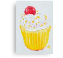 Vanilla cupcake with frosting and sprinkles Metal Print
