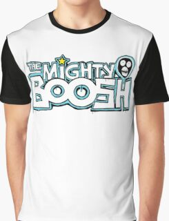 The Mighty Boosh – Dripping Blue Writing & Mask Graphic T-Shirt
