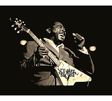He'll Play The Blues For You! Photographic Print