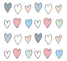 Colorful hearts pattern Photographic Print