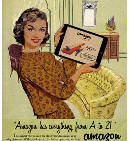 Vintage-Style Amazon Ad Sticker