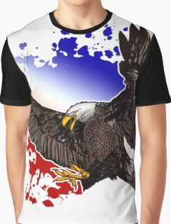 Bald Eagle - Red, White & Blue Graphic T-Shirt