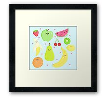 CUTE FRUIT! Framed Print