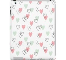 Pink and mint hearts pattern iPad Case/Skin