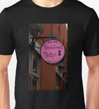 Backstreet Betty's Boutique Sign Unisex T-Shirt