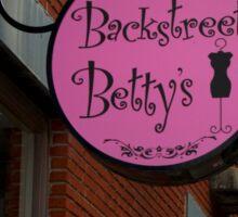 Backstreet Betty's Boutique Sign Sticker