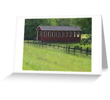 Red Barn along country road Greeting Card