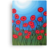 A Field of Poppies Canvas Print