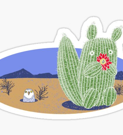 Squirrel Cactus  Sticker