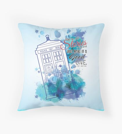 We're All Stories Throw Pillow