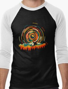 Geometry Sunrise Last Man On Earth Mountain Shirt Men's Baseball ¾ T-Shirt
