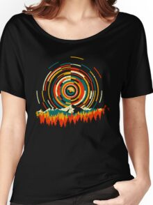 Geometry Sunrise Last Man On Earth Mountain Shirt Women's Relaxed Fit T-Shirt