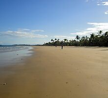 Mission Beach with Cyclist by STHogan