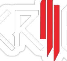 Skrillex   Logo  Black Background   High Quality! Sticker