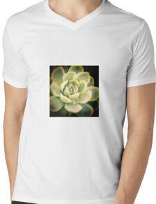 Water droplets on succulent Mens V-Neck T-Shirt
