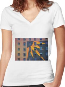 Dallas Architecture 22 Women's Fitted V-Neck T-Shirt