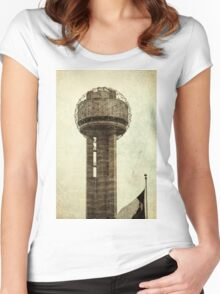 Dallas Architecture 24  Women's Fitted Scoop T-Shirt
