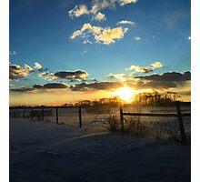 Sunny Snow Day Photographic Print