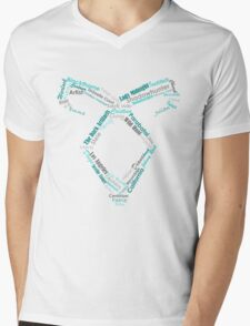 Lady Midnight Word Rune Mens V-Neck T-Shirt