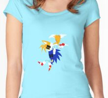 Sonic and Tails Women's Fitted Scoop T-Shirt