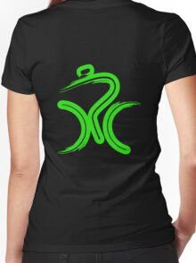 Green Bike by Peter Hunt Women's Fitted V-Neck T-Shirt