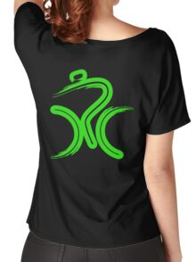 Green Bike by Peter Hunt Women's Relaxed Fit T-Shirt
