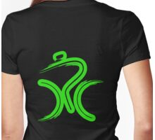 Green Bike by Peter Hunt Womens Fitted T-Shirt