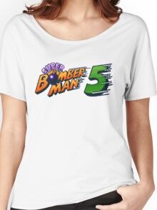 Super Bomberman 5 logotype Women's Relaxed Fit T-Shirt