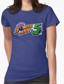 Super Bomberman 5 logotype Womens Fitted T-Shirt
