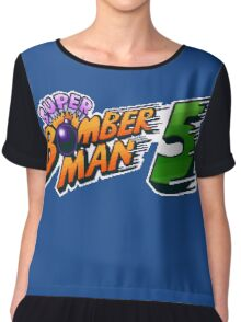Super Bomberman 5 logotype Chiffon Top