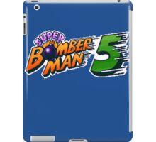 Super Bomberman 5 logotype iPad Case/Skin