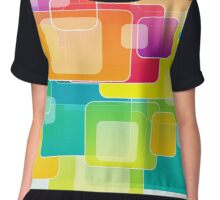 Colour Square Chiffon Top