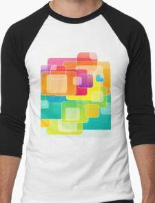 Colour Square Men's Baseball ¾ T-Shirt
