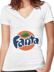 Fanta-stick Women's Fitted V-Neck T-Shirt