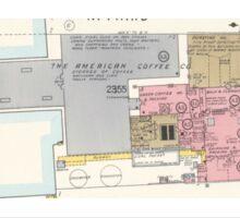 Coffee and sugar Antique Map Sticker