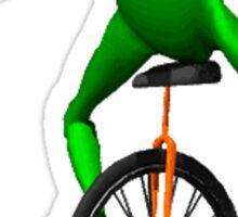 dat boi meme / unicycle frog  Sticker
