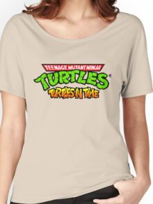 TMNT Turtles In Time logotype Women's Relaxed Fit T-Shirt