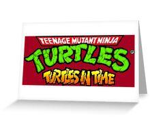 TMNT Turtles In Time logotype Greeting Card