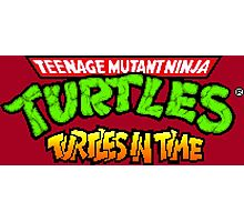 TMNT Turtles In Time logotype Photographic Print