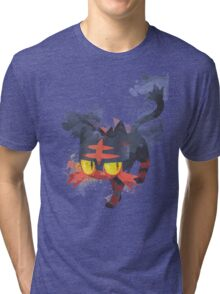 Litten Watercolor Tri-blend T-Shirt