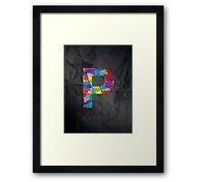 Fun Letter - P Framed Print