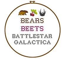 Bears Beets - Cross Stitch Photographic Print