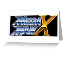 Megaman X logotype Greeting Card