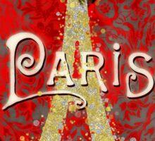 Travel Paris, modern vintage damask travel poster Sticker