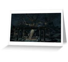 Skyrim Whiterun Gildergreen Tree Greeting Card