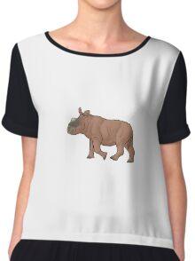 A baby Elasmotherium Chiffon Top