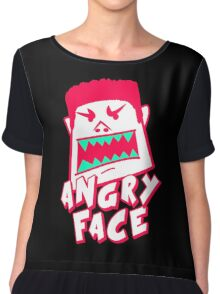 Angry Face Cartoon Chiffon Top