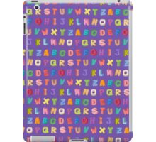 Alphabet pattern iPad Case/Skin