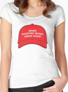 Make Country Music Great Again Women's Fitted Scoop T-Shirt